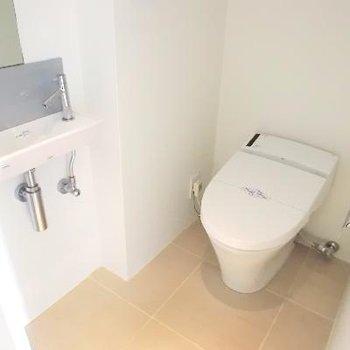 トイレも広い。