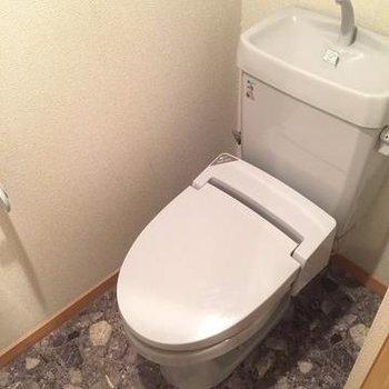 トイレも水色♪(写真は別部屋)
