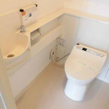 お店みたいに充実したトイレですね