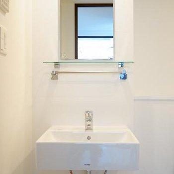 洗面台はシンプルに!