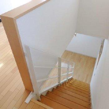階段を登る音って、なんか良いですよね。トントントン〜♪※写真別室