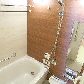ミストサウナ付きの憩いの浴室。