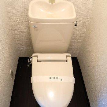 お手洗いはこちらに。