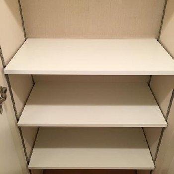 廊下部分に大容量の収納が3つあるのでご安心を!
