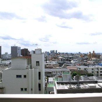 眺望も完璧!!開けてます。さすが6階。