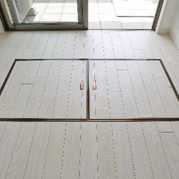 バルコニー前の床に扉が・・・