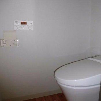 トイレはやっぱり個室でしょ!*フラッシュ撮影です