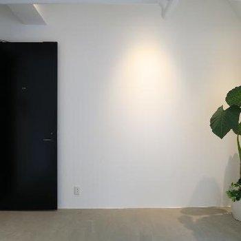ドアはブラック。締まります。