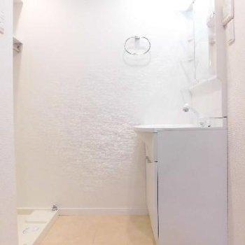 洗濯機おいたらちょっと狭いかな?