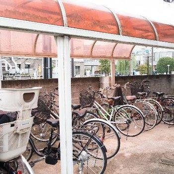 屋根付きで自転車長持ち