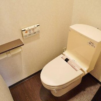 リモコン式の洗浄便座。