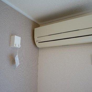 エアコンと室内干しのレールもついてます!