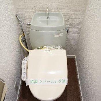 トイレは個室ウォシュレット!