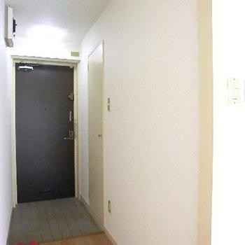 廊下部分。気持ちいいほど、無駄なしシンプル。右手の扉が収納。