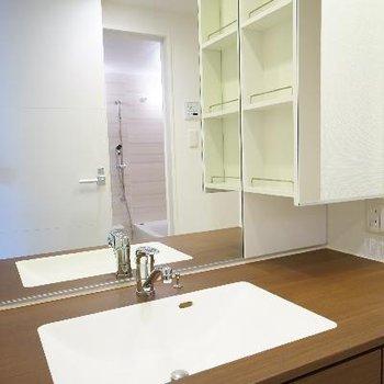 洗面台もゆったりサイズ!