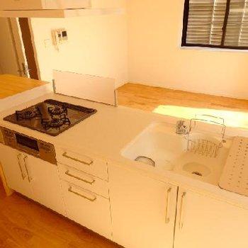 大きなキッチン、使いこなせるかしら、、、ってくらいデカイ!※写真は別部屋