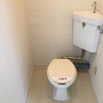 トイレは個室で既存利用です
