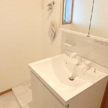 鏡裏は収納です、お隣は洗濯機置き場。※写真はどう間取りの別室