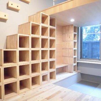 お気に入りはこの本棚を積んだ棚です