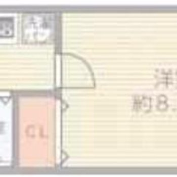 ゆったりめのひとり暮らしのお部屋。