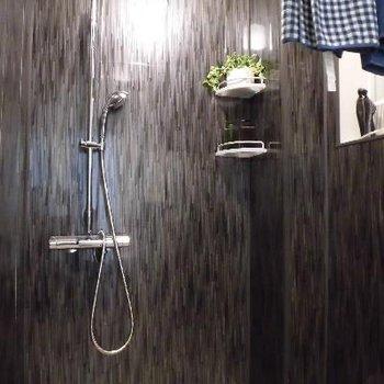 シャワールームはシックにキマってます