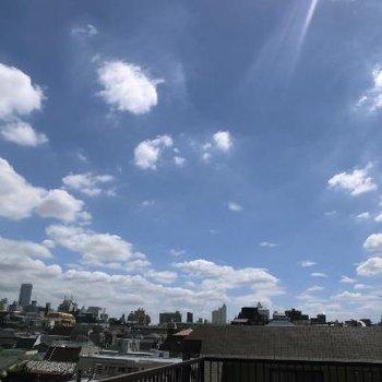 これは屋上からの眺めですよー!