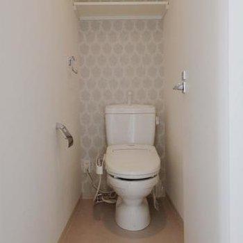 ウォシュレット付きトイレです。(※写真は反転802号室)