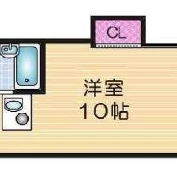 反転タイプのお部屋です。