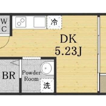 角部屋で実際にはDKにも窓あります!