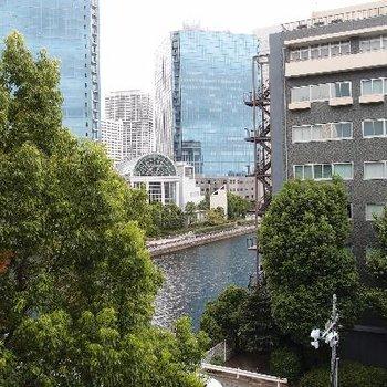 緑と河が見えるー!!