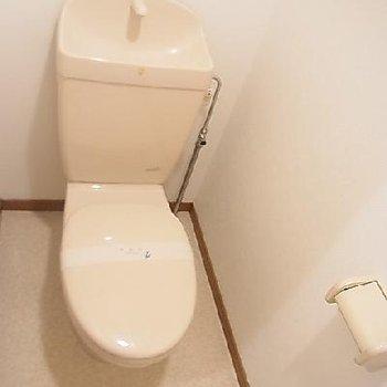 掃除のしやすいトイレ。※写真は同タイプの別部屋