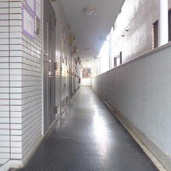 共用廊下も綺麗に管理されています!