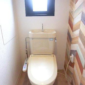 トイレもクロスが可愛いです