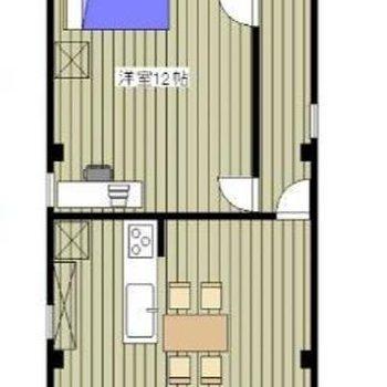 1フロア1部屋しかありません。
