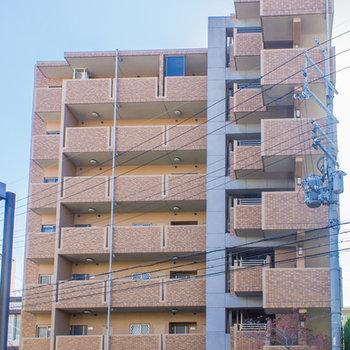 立派な外観7階建