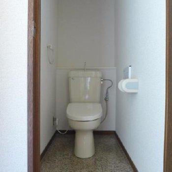 トイレは古め。もちろんウォシュレット