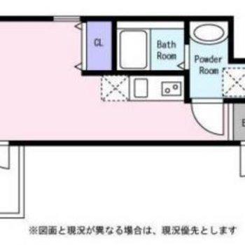 バルコニーはもっと狭いです。お部屋は7.4帖です。