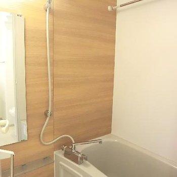 お風呂はちょっと狭いんです。