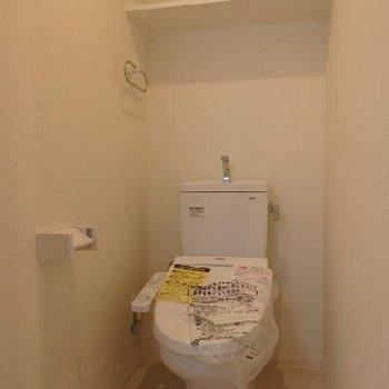 トイレはやっぱり新品が一番※写真は別部屋