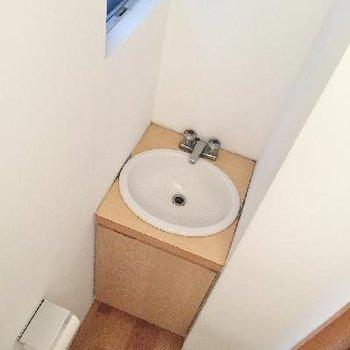 トイレの洗面台が無駄に可愛い!!