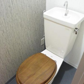 トイレ、頑張ってリメイクしました