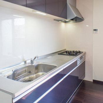 綺麗なキッッチンはシンクも広々。※写真は202号室