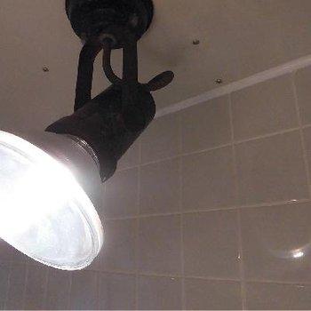 バスルームを照らすスポットライト