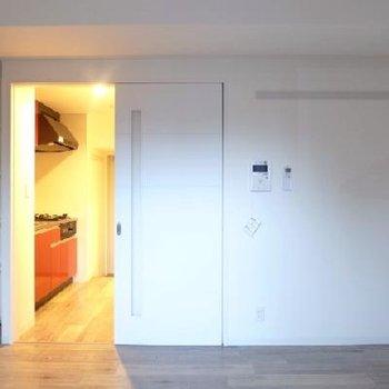 写真左の可動棚も何かと嬉しい※写真は別部屋