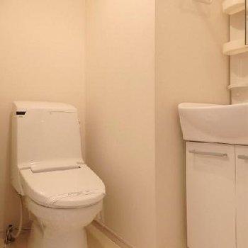 トイレ、独立の洗面台*写真は別室です