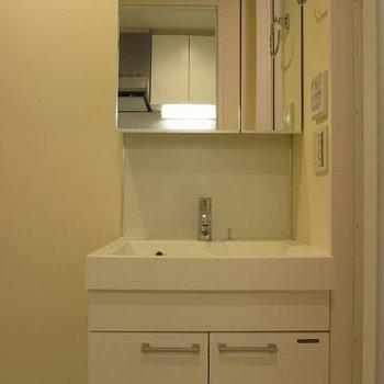 独立洗面台もきれい※写真は別室