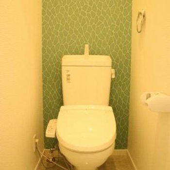 トイレまで、かわいい!写真は同間取り別部屋