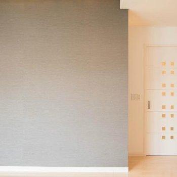 ドアのデザインがかわいい