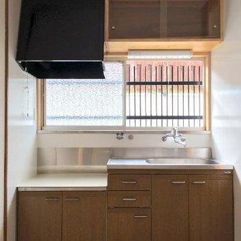 キッチンはまずまずの広さ。コンロは用意してくださいね!