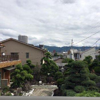 お隣さんのお庭がとっても美しんです。借景しちゃう?